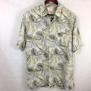 Men's Tasso Elba Island Camp Hawaiian Shirt Large